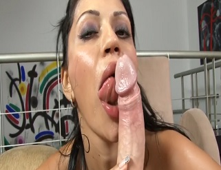LATINA RAMPAGE-THICK ASS LATINA MILF CIELO GIVES A SLOPPY BLOWJOB AND THEN GETS HER PUSSY POUNDED